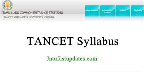 Tancet Syllabus For Mba by Tancet 2018 Syllabus Tancet Previous Question Papers
