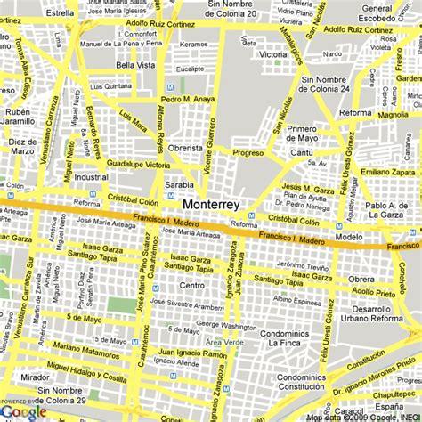 map of monterrey mexico map of monterrey mexico mexico map