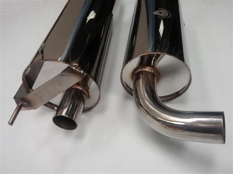 volvo 240 muffler volvo 240 stainless steel polished exhaust system 2