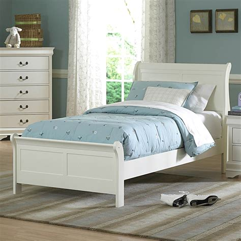 twin white bed shop homelegance marianne white twin sleigh bed at lowes com