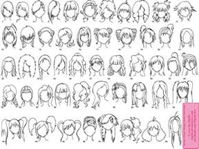 names of anime inspired hair styles various female anime manga hairstyles by elythe on deviantart