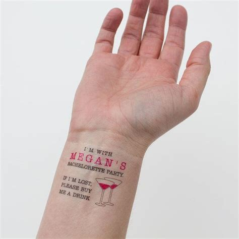 tattoo with eyeliner and hairspray if lost buy me a drink temporary tattoos bachelorette