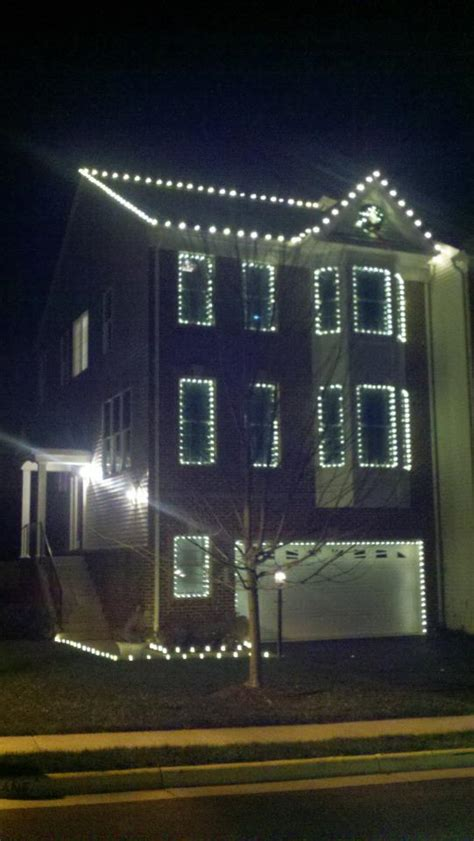 lights on lights on a townhome in purcellville va