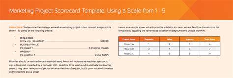 Free Marketing Scorecard Templates And 3 Ways To Tackle Work Requests Workfront Marketing Scorecard Template