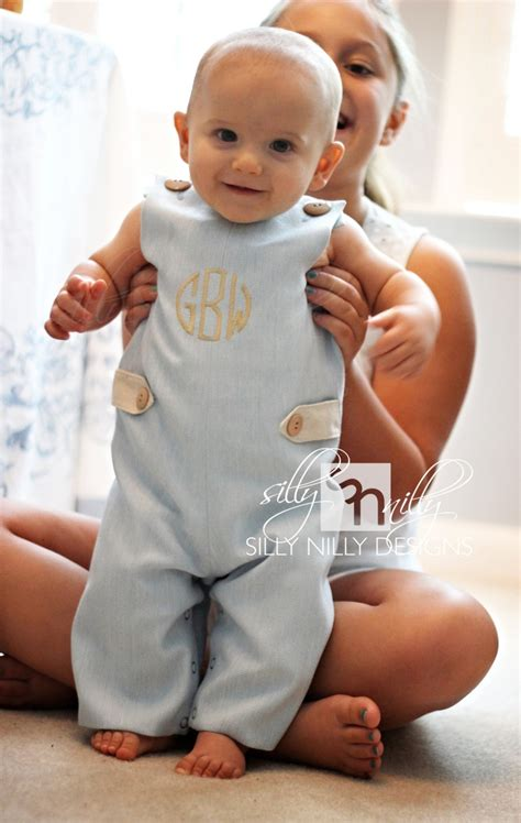 www baby baby blue summer wool and linen monogrammed longall for