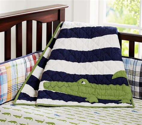 Pottery Barn Madras Crib Bedding Alligator Madras Nursery Bedding Baby Bedding Other Metro By Pottery Barn