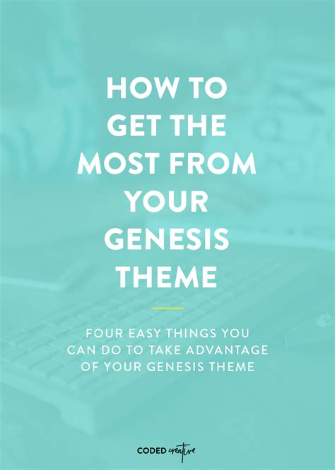 themes book of genesis how to get the most from your genesis theme coded