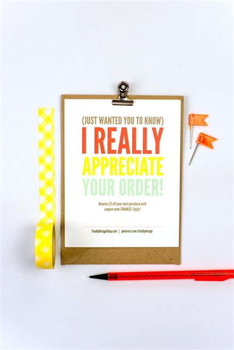 Card Template Buy by Thank You For Your Purchase Template Instant