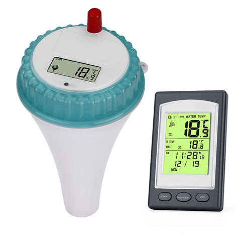 What Is Comfortable Water Temp For Swimming by Wireless Digital Floating Swimming Pool Thermometer