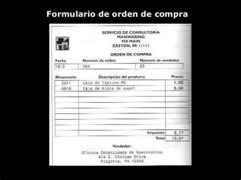 formulario orden de compra presentacion modelo relacional2 final
