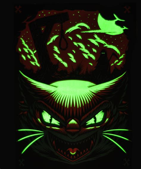 glow in the dark poster inside the rock poster frame blog ian jepson halloween be