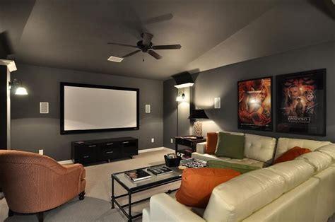 gray walls   media room   pop