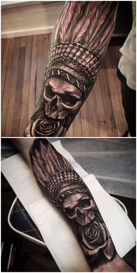 indian arm tattoo designs indian skull tatting and tatoo