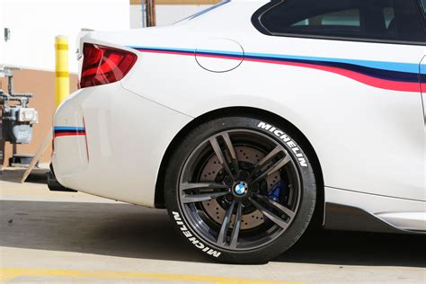 bmw tire bmw m2 with white michelin tire stickers tire stickers