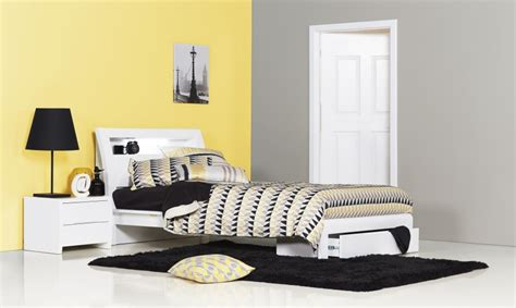 white single bedroom suite benton white king single kids bed bedshed bedshed