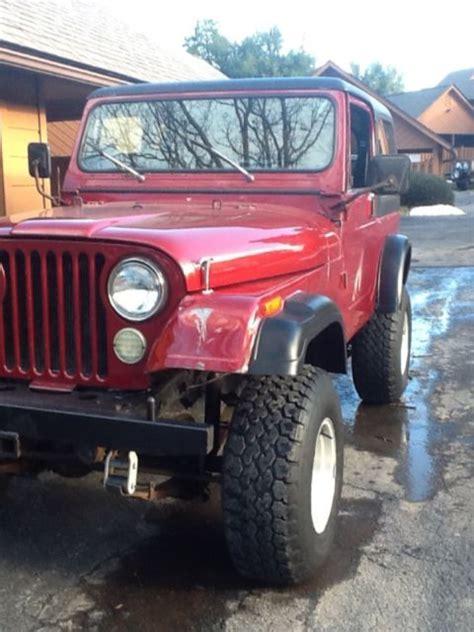 jeep lift kit crate 1jccm87e8dt037351 1985 jeep cj cj7 hard top hard doors