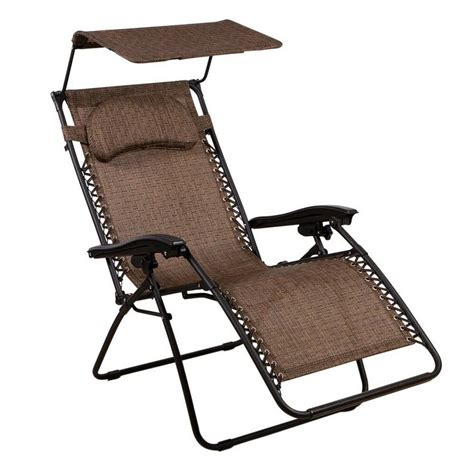 gravity chair oversized lounge chair  canopy  summer winds ebay
