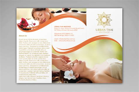 16 massage brochures psd eps format download
