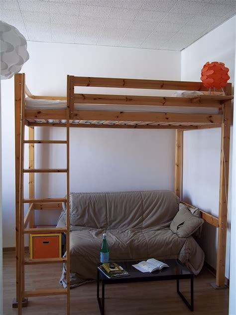 studio apartment setup exles loft bed and pull out couch ellevalentine flickr