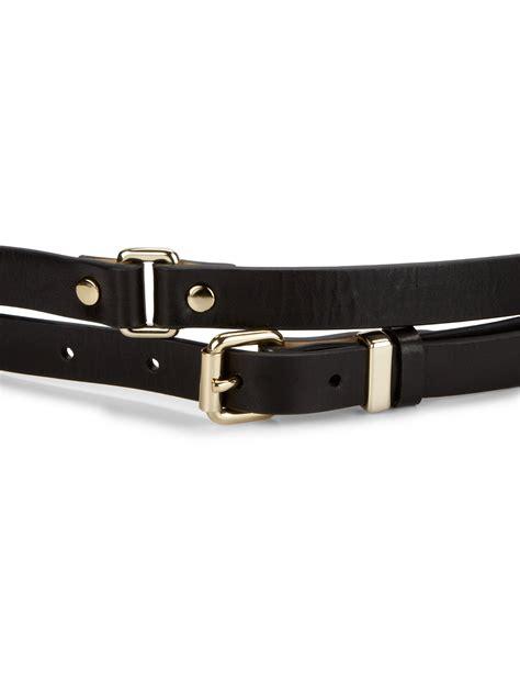 marc by marc wrap leather belt in black lyst