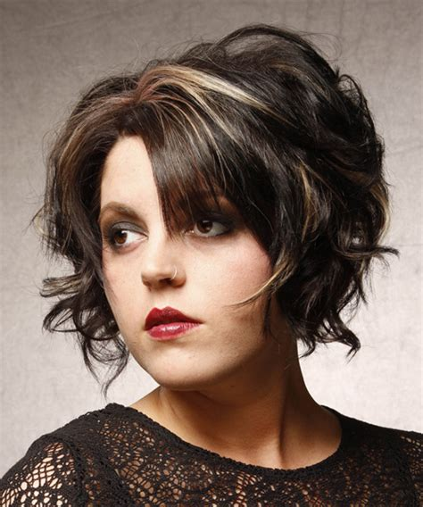 hairstyles to the side for medium hair short wavy formal hairstyle black