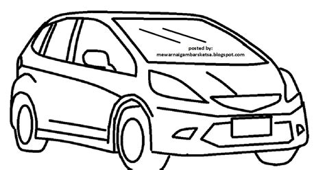 mewarnai gambar mewarnai gambar sketsa transportasi mobil 3