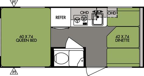 Rv Camper Floor Plans by 2015 Forest River R Pod Rp171 Travel Trailer Stock 1338