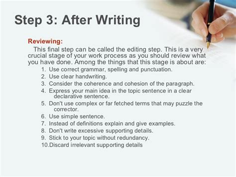 Steps To Writing A 5 Paragraph Essay by Steps For Paragraph Writing