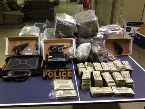 Elkhart County Warrant Search 100 Pounds Of Pot Meth And More Found In Saugany Lake