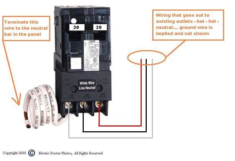 i am wiring a square d 50 gfci breaker for a tub the bottom of the breaker has three