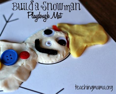printable snowman playdough mats snowman playdough mat free printable snowman and build