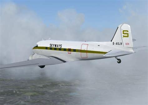 air freight ltd skyways dc 3 for fs2004