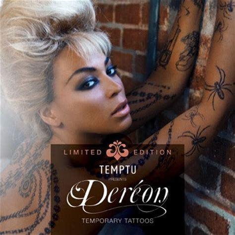 body tattoo beyonce body art beyonce s dereon deluxe edition temporary tattoo kit