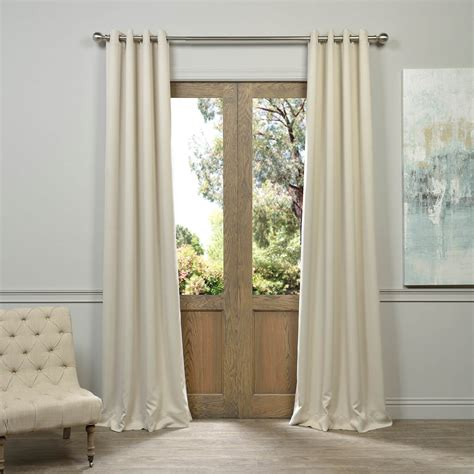 curtains deals eggnog grommet blackout curtain deals