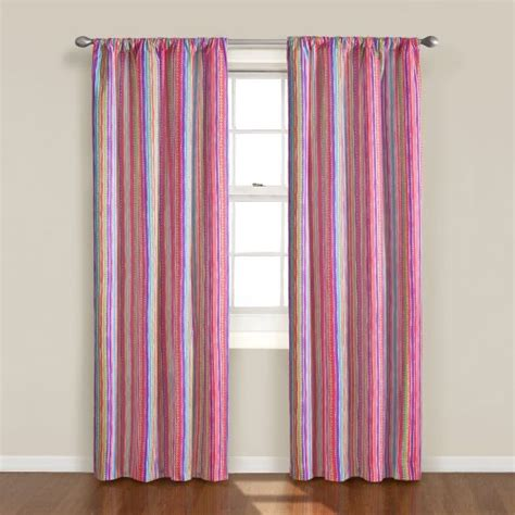 kids panel curtains eclipse kids playtime striped blackout window curtain
