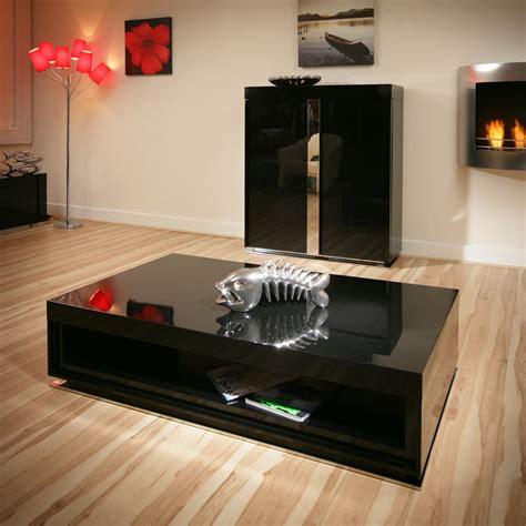 large modern designer rectangular black gloss glossy