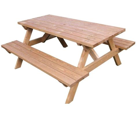 picnic tables with benches wooden pub style picnic benches from warner contracts