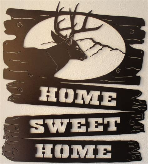 metal art home decor home sweet home welcome sign silhouette metal wall art
