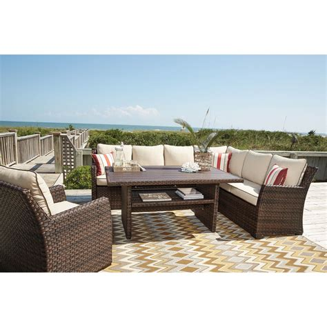 sectional dining table ashley salceda outdoor sectional lounge chair and dining