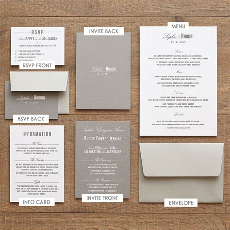 what should go on wedding invitations traditional style wedding invitation grey by paperpair notonthehighstreet