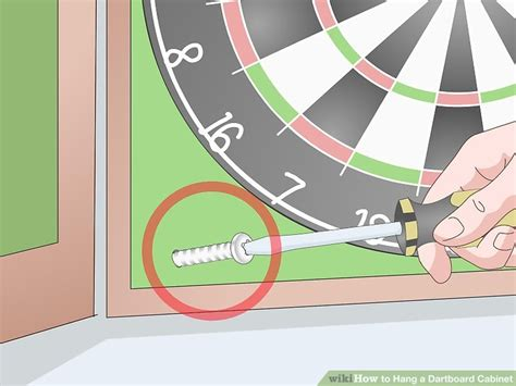 how to hang a dartboard cabinet how to hang a dartboard cabinet 13 steps with pictures