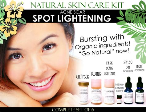 Acne Care Set skin care kit for acne scar spot lightening and