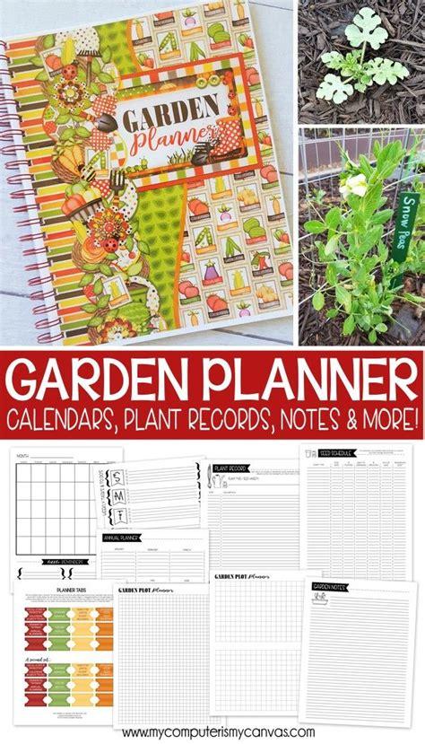 printable garden planner garden notebook