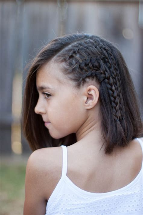 Cute Hairstyles Braids Short Hair | 5 braids for short hair cute girls hairstyles