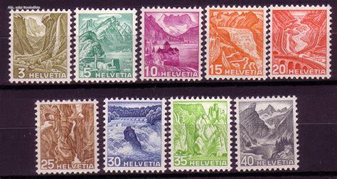 Brief Schweiz Briefmarke Briefmarken Schweiz Michel Nr 297 305 Landschaften 1936 Postfrisch G 252 Nstig Kaufen Im