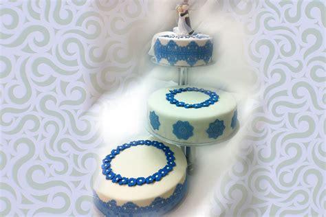 Hochzeitstorte Blau by Hochzeitstorte Tortenspitze