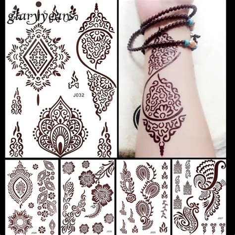 brown henna tattoo ink aliexpress buy 1pc flash metallic waterproof