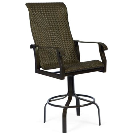 Bar Stool Patio Furniture by Cortland Woven Swivel Bar Stool By Woodard Patio