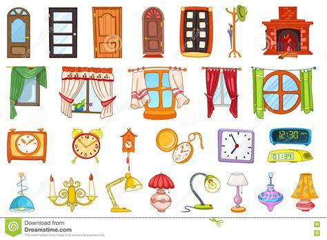 chimenea en ingles y pronunciacion sistema del vector de objetos del interior de la casa