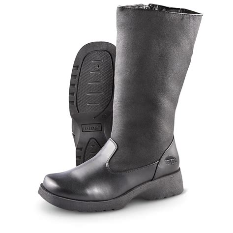 s totes 174 side zip paula boots black 206277